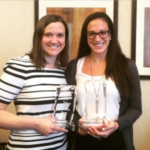 Counselor of the Year Katie Konrad Moore (Bellevue WA) & Rookie of the Year Rebecca Putter (Austin, TX)