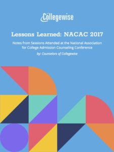 NACAC Notes 2017